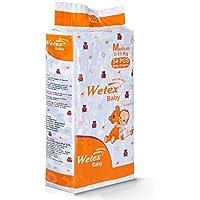 Wetex Super Jumbo Ultra Soft Qucik Absorb Medium Size Baby Diapers -54 Pcs (5-11 KG)