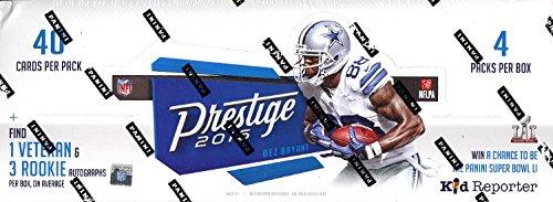 2016 Panini Prestige Football Hobby 4 Pack Box (Sealed)
