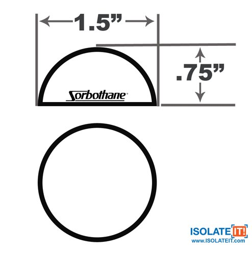 1.5'' Sorbothane Hemisphere Rubber Bumper Non-Skid Feet with Adhesive 50 Durom, 4 Pack by Isolate It! (Image #6)