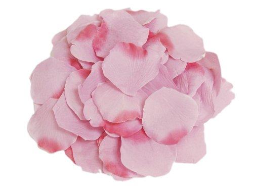 Leegoal Silk Artificial Rose Petals Wedding Flowers (Light Pink,Bag of 100 Pcs)