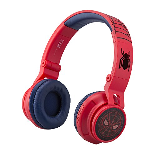 Marvel Spiderman Far from Home Kids Bluetooth Headphones Wireless with Built-in Microphone and Detachable Cord