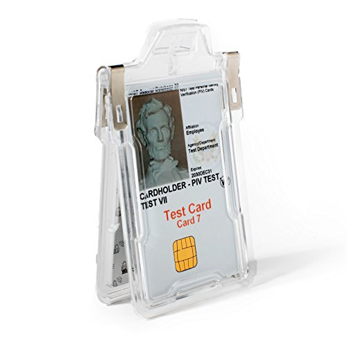 Identity Card Holders - Identity Stronghold Secure Badge Holder Classic, Clear (IDSH1004-001B-clr)