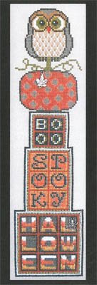 (Stacked-Halloween Owl Cross Stitch Chart and)