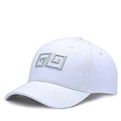 NUZADA Unisex Geometric Embroidery Men Women Hip-Hop Style Classic Fashion Baseball Cap Cotton Adjustable Hat