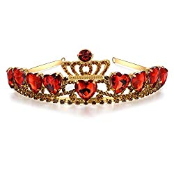 Crown Red Heart Tiara