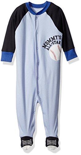 The Children's Place Baby Boys' Sleep 'N Play Romper, Baseball Brook 74915, 6-9 Months