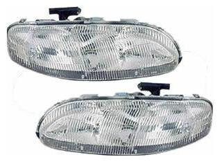 Headlights Depot Replacement for Chevy Lumina/Monte Carlo New Headlamps w/Halogen-Type Xenon ()