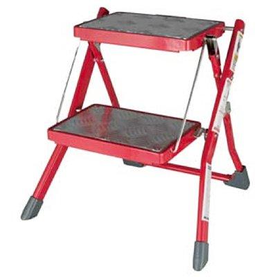 Folding 2-steps ladder (Red) B00A9EC9W4