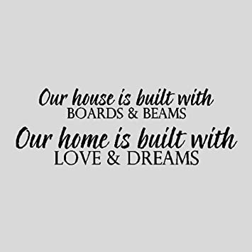 Amazon Com Our House Is Built With Family Wall Quotes Words