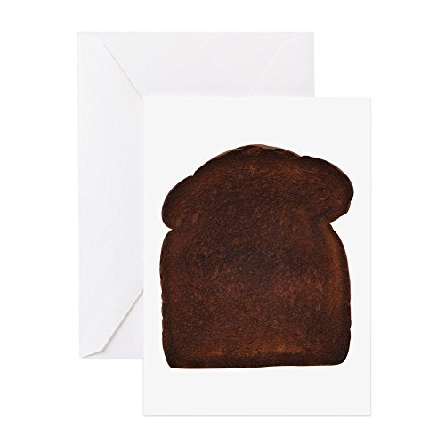 Notes Toast (CafePress - Burnt Toast - Greeting Card, Note Card, Birthday Card, Blank Inside Matte)