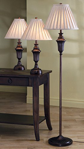 Coaster Home Furnishings 3-piece Lamp Set Bronze and Gold