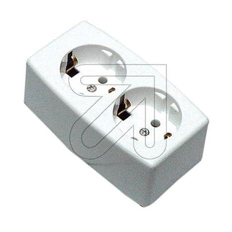 2 Enchufe de mesa blanco 537: Amazon.es: Electrónica