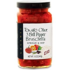 A savory, Mediterranean-inspired blend of roasted red, yellow and green bell peppers combined with rich & flavorful Kalamata Olives, fresh garlic, basil & onions. A true palate pleaser!  Suggested uses: Enjoy on a toasted baguette or ...