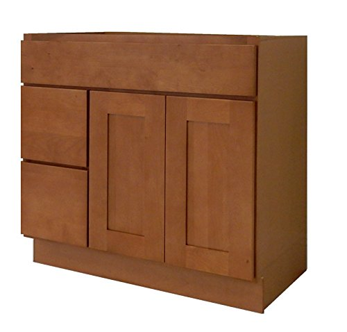NGY Honey Shaker Vanity Cabinet Maple Wood HS-3621DL, 36