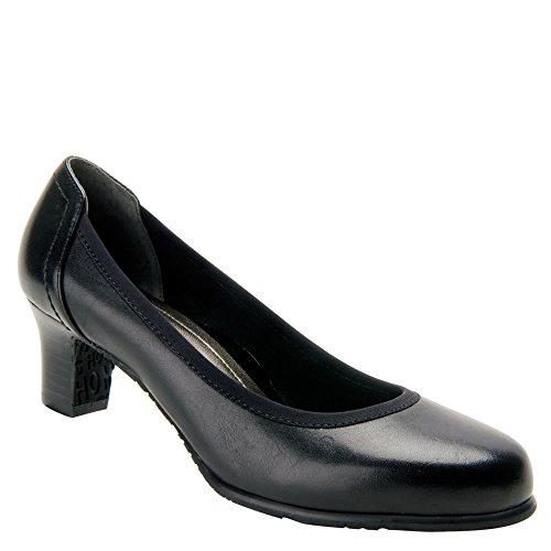(Ros Hommerson Women's Halo Pump,Black Burnished Leather,US 8.5 W)