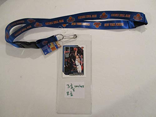 NEW YORK KNICKS LANYARD WITH TICKET HOLDER PLUS COLLECTIBLE PLAYER CARD (Ny Tickets Knick)