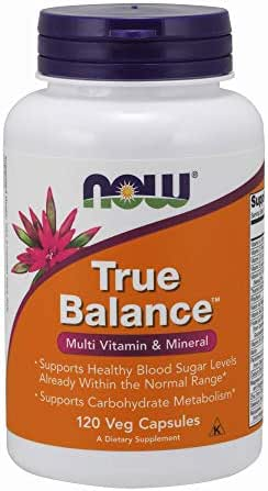 Now Supplements, True Balance™, a Multi-Vitamin, Multi-Mineral Supplement Including Biotin, 120 Capsules
