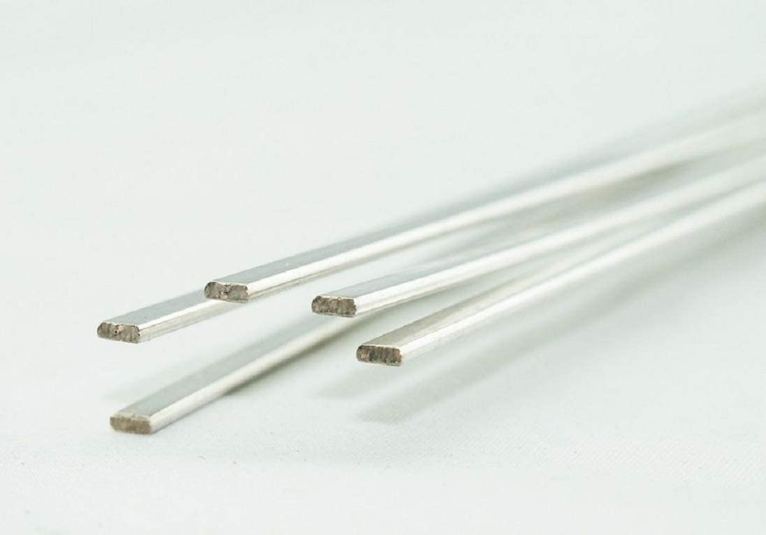 """WeldingCity 10-pcs Copper Phosphorus Filler Brazing Rod Silver 15% (BCuP-5) 20"""" x 1/8"""" x 0.050"""" for Air-Conditioning and Refrigerator Connection"""