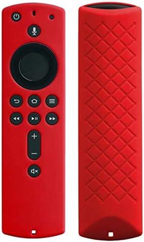 Remote Cover Case Compatible with FireTV Stick 2020 / FireTV Stick 4K/ FireTV Stick (second Gen) / FireTV (third Gen) - Auswaur Silicone Remote Protective Case Skin for Remote Control - Red
