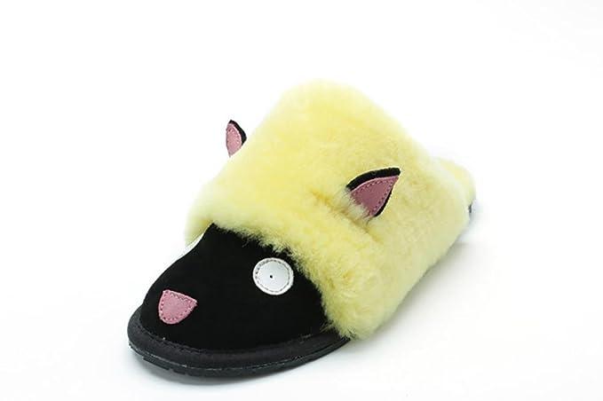 Parent - enfant hiver laine de mouton un accueil Anti - Skid Baotou coton pantoufles , 6 , 28