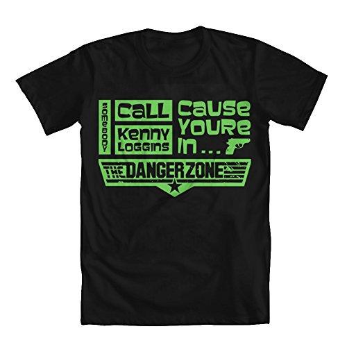 Danger Black T-shirt (GEEK TEEZ Danger Zone Men's T-Shirt Black Large)