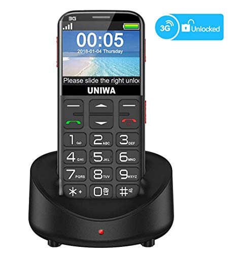 - UNIWA Unlocked Cell Phone 3G Senior Cell Phone WCDMA GSM Cell Phone for Senior Citizen & Kids 2.31
