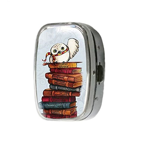 harry-potter-owl-hedwig-customize-unique-silver-square-pill-box-medicine-tablet-organizer-or-coin-pu