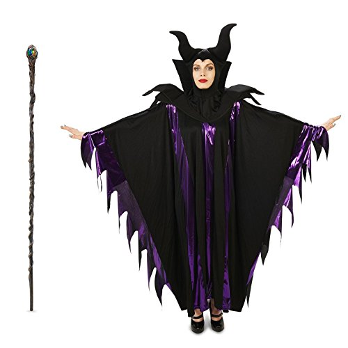 Magnificent Witch Adult Costume and Staff Bundle Set - Large/X-Large