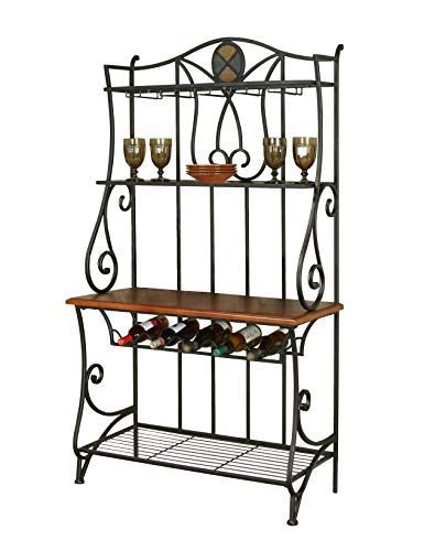 Sunset Trading CR-W2597-85 Vail Dining Bakers Rack, Wine, Espresso