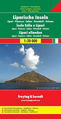 Aeolian Islands/Lipari/Panarea/Salina/Stromboli/Vulcano/Italy South (Freytag & Berndt Road Map)