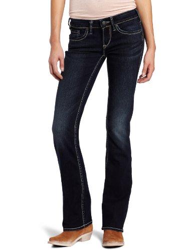 Silver Jeans Women's Aiko Curvy Bootcut Jean, Dark - Silver Jeans Aiko Bootcut