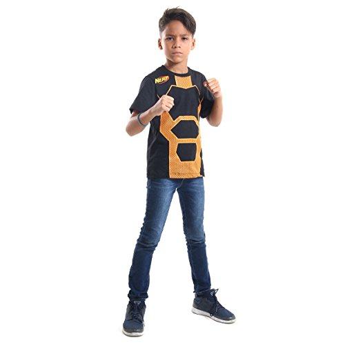 Camiseta Nerf Luxo Infantil Sulamericana Fantasias Preto/Laranja P 3/4 Anos
