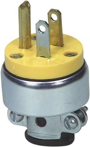 EATON 2867-BOX 2867 Armored electrical Plug, 125 V, 15 A, Nema 5-15R, 3 Wire, - Wire 3 Plug Armored