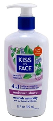 Kiss My Face Vitamin Enriched Moisture Shave with Essential Oils, Patchouli - 11 oz - 2 pk