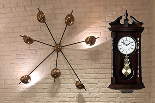 Vmarketingsite Wall Clocks: Grandfather Wood Wall Clock with Chime. Pendulum Wood Traditional Clock. Makes a Great House Warming or Birthday Gift Wall Clock Chimes Every Hour with Westminster Melody