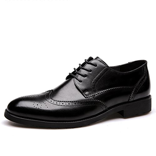 Black Lace Shoes Vintage Oxford up Multicolor Classic Casual Work Leather 36001 Mens qfw6Uw