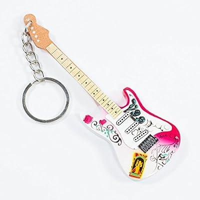Llaveros de madera con forma de guitarra - Jimi Hendrix - Monterey ...