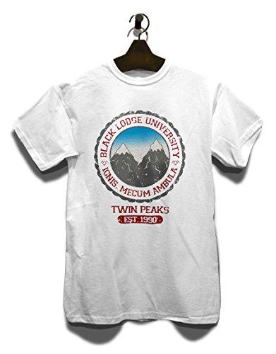 University Couleurs shirt T Blanc Lodge Différentes tailles 2 Black PvFnOqn