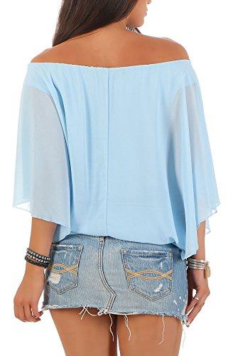 Bleu Clair Haut Loose Unique 6296 Oversize Tunique Blouse Taille malito lgant Femme AOgvqqC