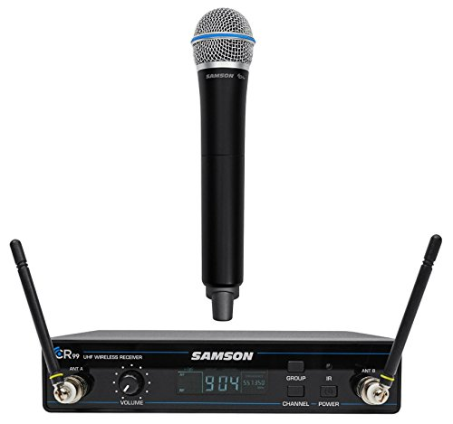 (SAMSON Concert 99 Wireless Handheld 80-Channel UHF Karaoke Rack Mount Microphone)