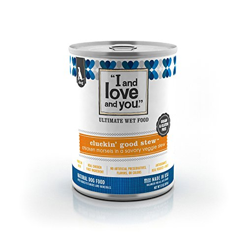 I and love and you, Clucking' Good Stew All Natural Canned Dog Food, 13-Ounce, 12-Pack