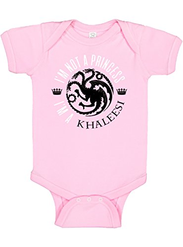 (Panoware Funny Baby Girl Onesie   I'm Not a Princess I'm a Khaleesi, Pink, 6-12 Months)