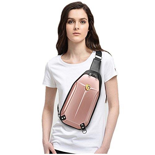 Solo bolso del hombro Cáscara dura del PVC Anti extrusion Bolso del pecho montar a caballo B