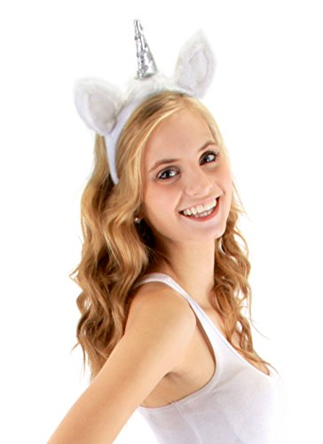 Elope Unicorn Costume Headband with Ears & Tail for Women]()