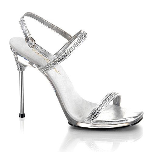 Fabulicious - Sandalias de vestir para mujer Silber