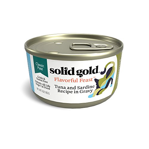 Solid Gold Pate in Gravy Wet Cat Food; Evening Tide with Real Tuna & Sardine, 24ct/3oz