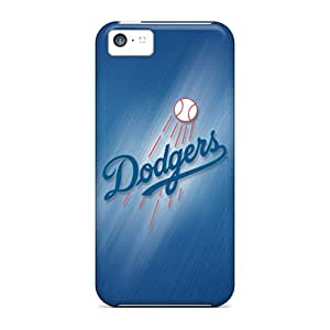 Shock-Absorbing Hard Phone Case For Iphone 5c With Support Your Personal Customized Realistic Los Angeles Dodgers Image JonathanMaedel