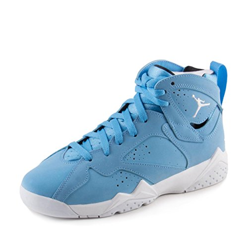Jordan Kids Air 7 Retro BG, UNIVERSITY BLUE/WHITE-WHITE, Youth Size 5.5 by Jordan