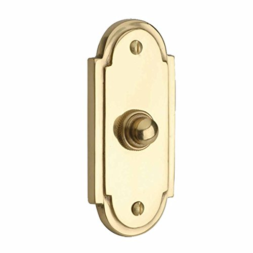 """Brass Door Bell Push Button Chime Traditional Colonial Long Lasting Polished Design 4"""""""