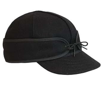The Original Stormy Kromer Wool Cap Black, 6 1/2